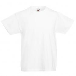 Koszulka dziecięca fruit of the loom valueweight biała fullcolor