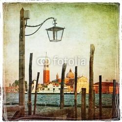 Naklejka samoprzylepna venetian pictures - artwork in retro style