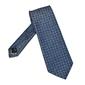 Niebieski jedwabny krawat we wzór