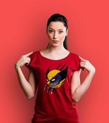 Wolverinulka t-shirt damski czerwony xxl