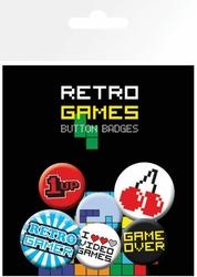 Retro Games - zestaw 6 przypinek