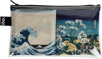 Torba loqi art lover 2 szt. hokusai wave  fuji
