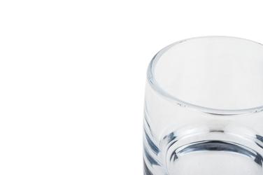 Świecznik szklany h-8.5 cm