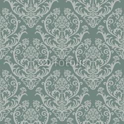 Obraz na płótnie canvas czteroczęściowy tetraptyk Bez szwu zielony kwiatowy tapet adamaszku