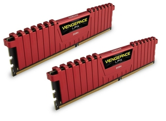 Corsair DDR4 Vengeance LPX 16GB 240028GB CL16-16-16-39 RED