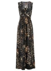 Sukienka shirtowa z nadrukiem bonprix brązowy z nadrukiem
