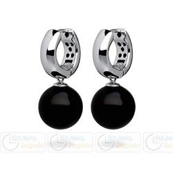 Fc kolczyki wiszące z perłą 3061221016 pm 12 kolor czarny onyx