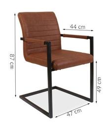 Krzesło tapicerowane na płozach anne różne kolory