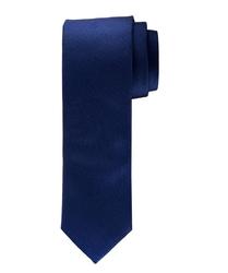 Elegancki granatowy krawat jedwabny