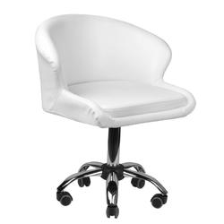 Krzesło kosmetyczne lady białe