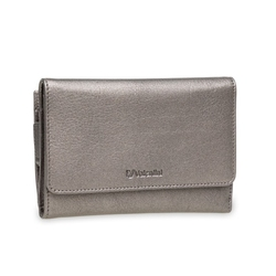 Portfel damski valentini metallic p62 srebrny - srebrny