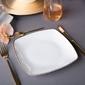 Talerz deserowy porcelana mariapaula moderna gold 18 cm kwadratowy