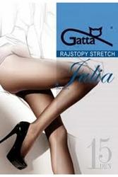 Gatta julia stretch 15 den plus nero rajstopy