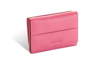 Damski portfel valentini black  red diamond 263 - różowy