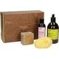 Zestaw prezentowy discovery of aleppo najel - 2x mydła, woda kwiatowa, gąbka