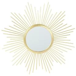 Złote lusterko dekoracyjne na ścianę rise sun