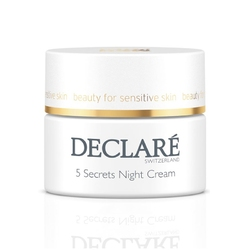 declare 5 secrets night cream 5 sekretów krem na noc 50 ml