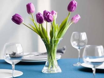 Wazon szklany na kwiaty x edwanex 18 cm