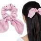 Gumka do włosów różowa apaszka scrunchies frotka