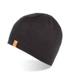 Zimowa ciepła czapka męska z polarem brodrene cz1 czarna