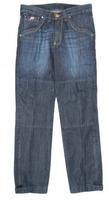 Spodnie 115 jeans piston1 kolor niebieski żółta nitka- bez ochraniaczy bce