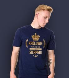 Wyprzedaż - królowie rodzą się w sierpniu męskie t-shirt męski granatowy xxl