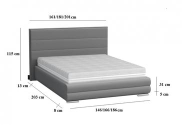 Łóżko tapicerowane tomano ii 160x200