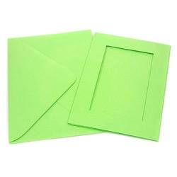 Kartka passe-partout prostokąt - zielony jasny - ZIELJAS