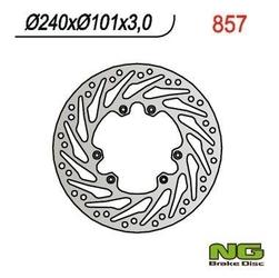 Ng857 tarcza hamulcowa honda cr 125250, crf 250450 02-14 240x101x3 turbina