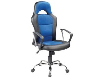 Fotel obrotowy q-033 czarno-niebieski