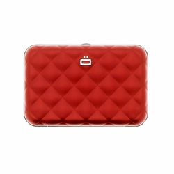 Portfel Aluminiowy Ogon Designs Quilted Button Red - Red