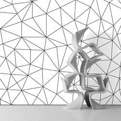 Tapeta na ścianę - triangle web , rodzaj - tapeta flizelinowa laminowana
