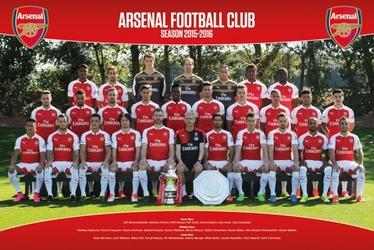 Arsenal Londyn - Drużyna 15-16 - plakat