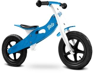Toyz velo blue drewniany rowerek biegowy pompowane koła + prezent 3d