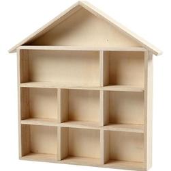 Drewniany domek kwadratowy 25x25 cm