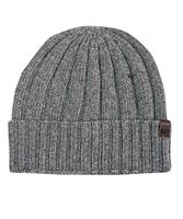 Ciepła szara zimowa czapka