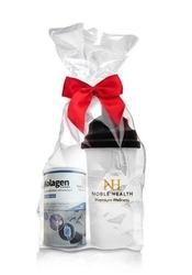 Kolagen w proszku + glukozamina i witamina c noble health 100g + oryginalny shaker nh gratis