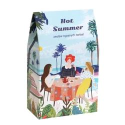 Hot summer. zestaw herbat na lato - 10 saszetek 10x 5g z herbatą różnego rodzaju i smaku + bawełniany filtr do herbaty, idealny letni podarunek dla bliskiej osoby