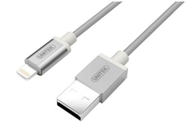 Unitek kabel lightning 1m mfi silver y-c499asl