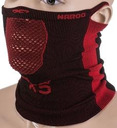 Maska ochronno-filtrująca naroo x5s czarno - czerwona