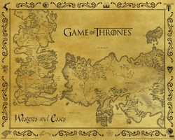 Game Of Thrones Antique Map - plakat z serialu