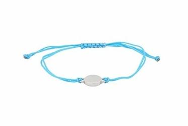 bransoletka magnetyczna 2756-1 turkusowy tekstylny sznurek