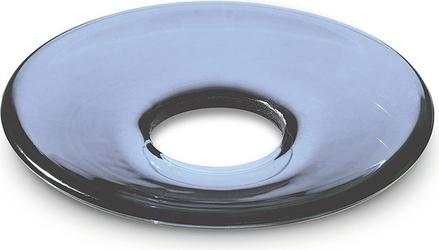Okapnik do świecy Lumi płaski 8,5 cm ciemnoniebieski