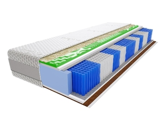 Materac kieszeniowy hinti multipocket visco molet 110x210 cm średnio  twardy profilowane visco memory
