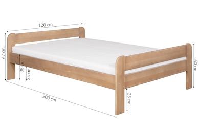 Łóżko drewniane loka 120x200 wiele kolorów