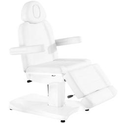 Fotel kosmetyczny elektr. azzurro 803a 2 siln. biały