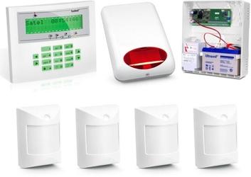 Zestaw alarmowy satel integra 24, klawiatura lcd, 4 czujniki, sygnalizator zewnętrzny - możliwość montażu - zadzwoń: 34 333 57 04 - 37 sklepów w całej polsce