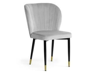 Eleganckie tapicerowane krzesło massimo na metalowych nogach