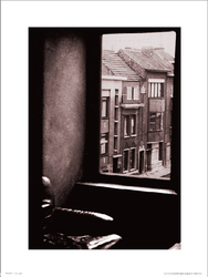 Window View Sepia - plakat premium