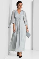 Szara wieczorowa sukienka sheego plus size